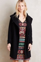 Anthropologie Boiled Wool Sweater Coat Black