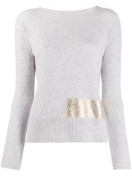 Pinko Giappone Knitted Top Grey