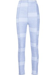 Lisa Marie Fernandez 'Karlie' Stripe Leggings Blue