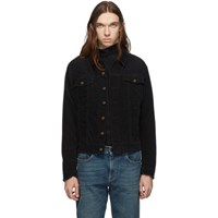 Saint Laurent Black Corduroy Classic Jacket