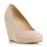 Linea Arnia Espadrille Wedge Court Shoes Nude