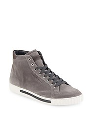 Alessandro Dell'acqua Suede High Top Sneakers Grey
