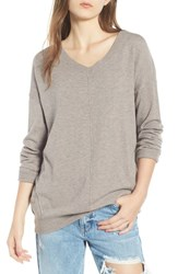 Dreamers By Debut Exposed Seam Sweater Mocha