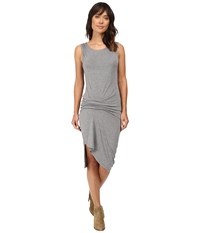 Culture Phit Ivy Sleeveless Gathered Side Dress Heather Charcoal Women's Dress Gray