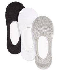 Charter Club Women's High Cut Liner Socks 3 Pack Only At Macy's Grey White Black