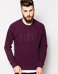 Farah Vintage Sweatshirt With Tonal Farah Logo Red