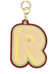 Chaos R Chenille Luggage Tag Champagne