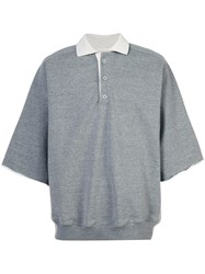 Fear Of God Oversized Sleeves Polo Shirt Cotton Polyester Rayon Grey
