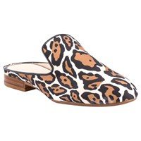Unisa Dewey Open Back Mule Loafers Natural Leopard