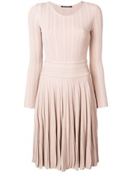 Antonino Valenti Flared Fitted Day Dress Nude And Neutrals
