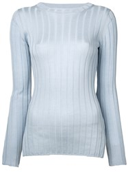 Cityshop Ribbed Jumper Blue