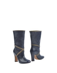 Michel Perry Ankle Boots Dark Blue