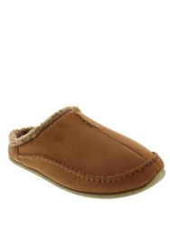 Deer Stags Nordic Faux Fur Lined Moccasins Chestnut