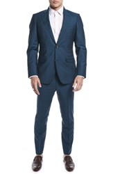 Strong Suit By Ilaria Urbinati Kilgore Slim Fit Solid Wool And Mohair Nordstrom Exclusive Blue Teal