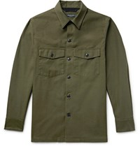 Rag And Bone Heath Slub Cotton Shirt Jacket Army Green