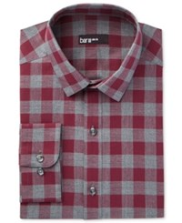 Bar Iii Men's Slim Fit Wine Oversize Gingham Dress Shirt Only At Macy's