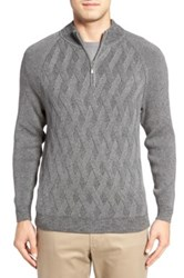 Tommy Bahama Ocean Crest Quarter Zip Sweater Gray