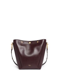 Mulberry 'Small Camden' Press Stud Leather Hobo Red