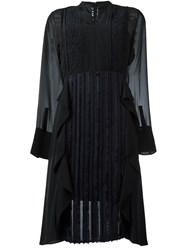 3.1 Phillip Lim Lace Chest Panel Dress Black