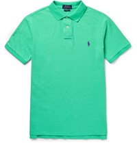 Polo Ralph Lauren Lim Fit Cotton Pique Hirt Green