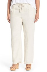 Plus Size Women's Caslon Drawstring Linen Pants Flax