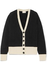 Simon Miller Bly Two Tone Alpaca Blend Cardigan Black