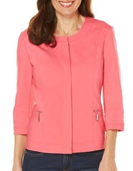 Rafaella Solid Satin Twill Jacket Pink