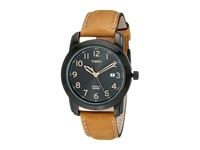 Timex Elevated Classics Black Dial Tan Leather Strap Watch Tan Black Watches Multi