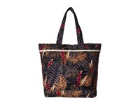 Roxy All Along Tote Anthracite Jungly Flowers Tote Handbags Brown
