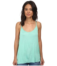 Hurley Solid Riot Twisted Strap Tank Top Green Glow Women's Sleeveless Multi