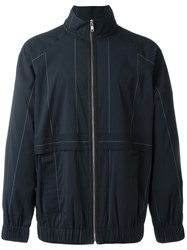 Alexander Wang Graphic Line Sports Jacket Blue