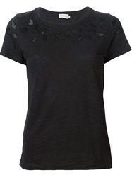 Moncler Beaded T Shirt Black