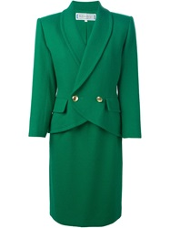 Yves Saint Laurent Vintage Blazer And Skirt Suit Green