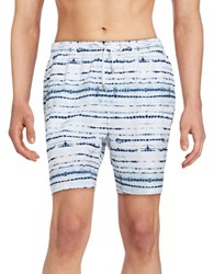 Michael Kors Tie Dye Swim Trunks White