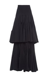 Antonio Berardi Tiered Cutout Maxi Skirt Black