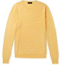 Altea Cotton And Cashmere Blend Sweater Yellow