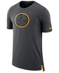 Nike Men's Pittsburgh Steelers Travel Mesh T Shirt Anthracite