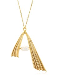 Attico Alican Icoz Amore Long Chain Necklace Gold