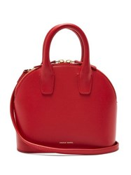 Mansur Gavriel Top Handle Mini Leather Bag Red