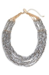 Natasha Couture Women's Beaded Multistrand Statement Necklace