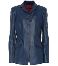 Sies Marjan Bryce Leather Blazer Blue