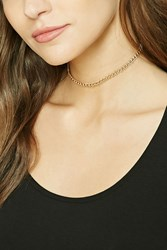 Forever 21 Ball Charm Chain Choker Gold