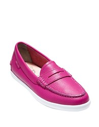 Cole Haan Pinch Weekender Leather Loafers Fuschia