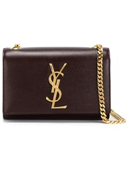 Saint Laurent 'Monogram' Cross Body Red