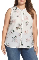 Lucky Brand Plus Size Women's Floral Silk Top