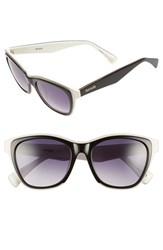 Women's Kensie 'Lillith' 51Mm Polarized Sunglasses Black White Tri Laminate