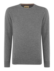 Howick Cashmere Crew Neck With Gift Box Charcoal