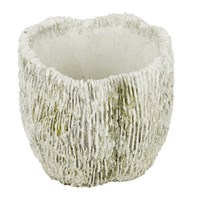 Amara Ridged Coral Flower Pot Grey