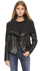 6 Shore Road Chloe Leather Jacket Black Rock