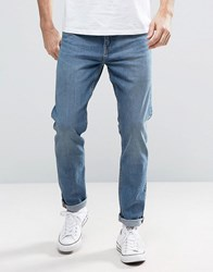 Weekday Sunday Tapered Jeans Drop Crotch Cotton Blue Cotton Blue